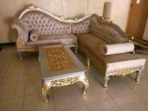 Sofa sudut meja ketapang